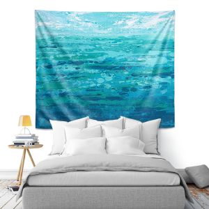 Artistic Wall Tapestry | Sue Allemand - Coastal Walk I | Ocean Abstract