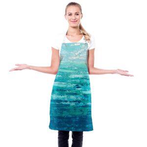 Artistic Bakers Aprons | Sue Allemand - Coastal Walk II | Ocean Abstract