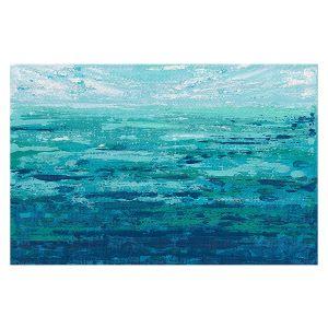 Decorative Floor Covering Mats | Sue Allemand - Coastal Walk II | Ocean Abstract