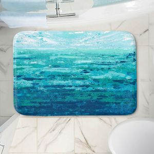 Decorative Bathroom Mats   Sue Allemand - Coastal Walk II   Ocean Abstract