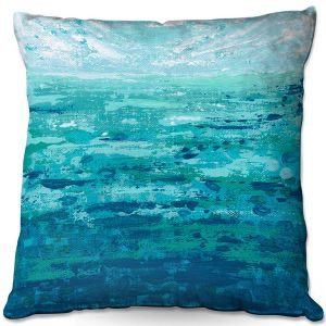 Throw Pillows Decorative Artistic | Sue Allemand - Coastal Walk II | Ocean Abstract