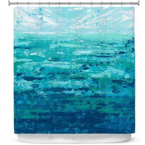 Premium Shower Curtains | Sue Allemand - Coastal Walk II | Ocean Abstract