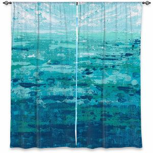 Decorative Window Treatments | Sue Allemand - Coastal Walk II | Ocean Abstract