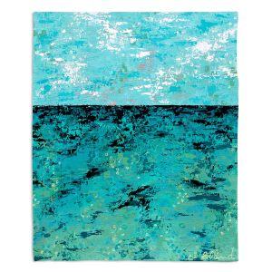 Decorative Fleece Throw Blankets   Sue Allemand - Coastal Sea Dreams   Ocean Abstract