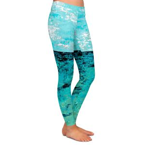 Casual Comfortable Leggings | Sue Allemand - Coastal Sea Dreams | Ocean Abstract