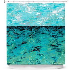 Premium Shower Curtains | Sue Allemand - Coastal Sea Dreams | Ocean Abstract