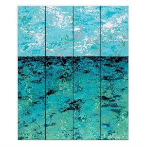 Decorative Wood Plank Wall Art | Sue Allemand - Coastal Sea Dreams | Ocean Abstract