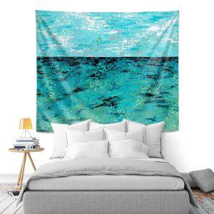 Artistic Wall Tapestry | Sue Allemand - Coastal Sea Dreams | Ocean Abstract