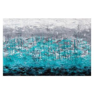 Decorative Floor Covering Mats | Sue Allemand - Dripping Turquoise | Ocean Abstract