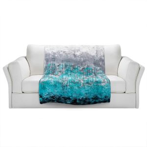 Unique Sherpa Blankets from DiaNoche Designs by Sue Allemand - Dripping Turquoise