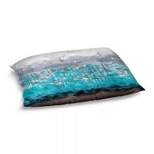 Decorative Dog Pet Beds | Sue Allemand - Dripping Turquoise | Ocean Abstract