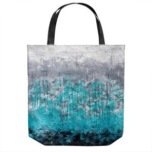 Unique Shoulder Bag Tote Bags | Sue Allemand - Dripping Turquoise | Ocean Abstract