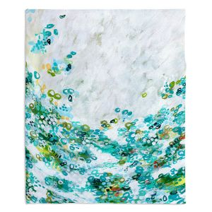 Decorative Fleece Throw Blankets | Sue Allemand - Meet by Sea | Colorful abstract