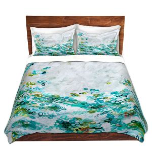 Artistic Duvet Covers and Shams Bedding | Sue Allemand - Meet by Sea | Colorful abstract