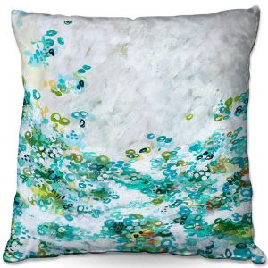 Throw Pillows Decorative Artistic | Sue Allemand - Meet by Sea | Colorful abstract