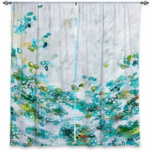 Decorative Window Treatments | Sue Allemand - Meet by Sea | Colorful abstract