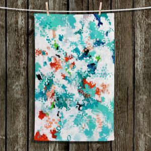 Unique Hanging Tea Towels   Sue Allemand - Mesmerized   Colorful abstract