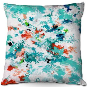 Throw Pillows Decorative Artistic | Sue Allemand - Mesmerized | Colorful abstract