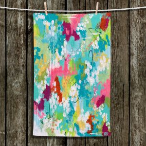 Unique Bathroom Towels   Sue Allemand - Overjoyed   Colorful abstract