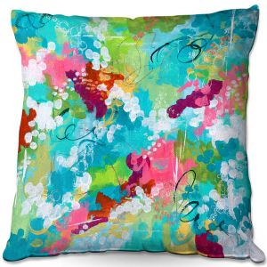 Throw Pillows Decorative Artistic | Sue Allemand - Perfect Day | Colorful abstract