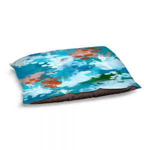 Decorative Dog Pet Beds | Sue Allemand - Popping Orange | Colorful abstract