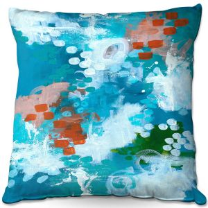 Throw Pillows Decorative Artistic | Sue Allemand - Popping Orange | Colorful abstract