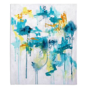 Decorative Fleece Throw Blankets   Sue Allemand - Projection   Colorful abstract