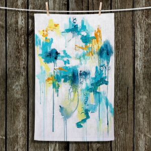 Unique Hanging Tea Towels | Sue Allemand - Projection | Colorful abstract