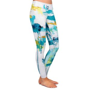 Casual Comfortable Leggings   Sue Allemand - Projection   Colorful abstract