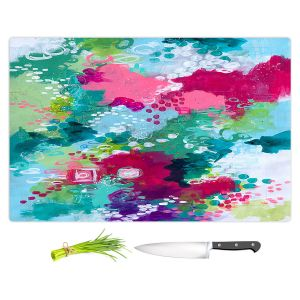 Artistic Kitchen Bar Cutting Boards | Sue Allemand - Right Coast | Colorful abstract