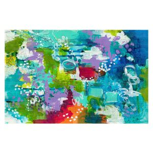 Decorative Floor Covering Mats | Sue Allemand - Rocky Mountain High | Colorful abstract