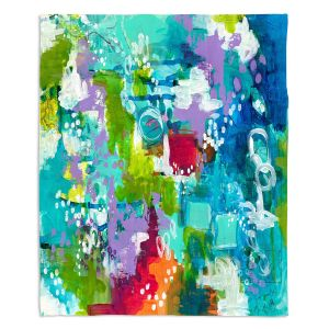 Artistic Sherpa Pile Blankets | Sue Allemand - Rocky Mountain High | Colorful abstract