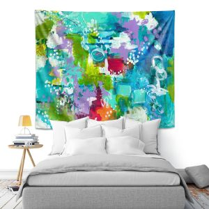 Artistic Wall Tapestry | Sue Allemand - Rocky Mountain High | Colorful abstract