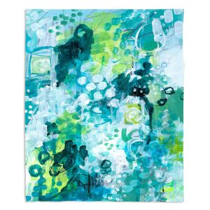 Decorative Fleece Throw Blankets | Sue Allemand - Safe Harbor | Colorful abstract