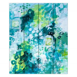 Decorative Wood Plank Wall Art | Sue Allemand - Safe Harbor | Colorful abstract