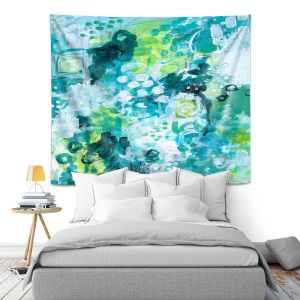 Artistic Wall Tapestry | Sue Allemand - Safe Harbor | Colorful abstract
