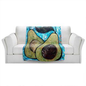 Artistic Sherpa Pile Blankets | Sue Allemand - Sustenance | Avocado fruit still life