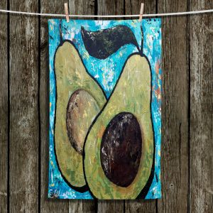 Unique Hanging Tea Towels | Sue Allemand - Sustenance | Avocado fruit still life