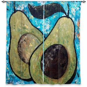 Decorative Window Treatments | Sue Allemand - Sustenance | Avocado fruit still life