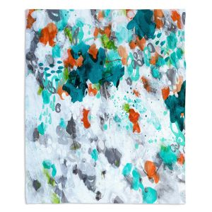 Artistic Sherpa Pile Blankets | Sue Allemand - Today is the Day | Colorful abstract