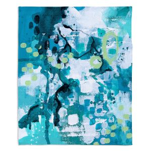 Decorative Fleece Throw Blankets | Sue Allemand - Turbulent Seas 1 | Colorful abstract ocean