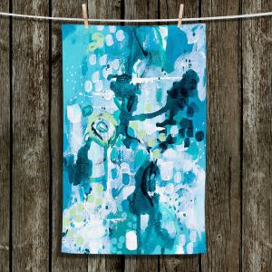 Unique Hanging Tea Towels | Sue Allemand - Turbulent Seas 2 | Colorful abstract ocean