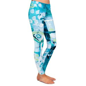 Casual Comfortable Leggings   Sue Allemand - Turbulent Seas 2   Colorful abstract ocean