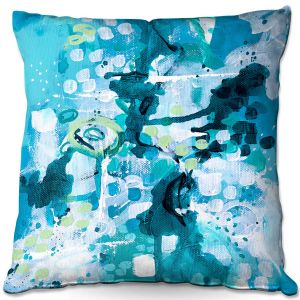 Throw Pillows Decorative Artistic | Sue Allemand - Turbulent Seas 2 | Colorful abstract ocean