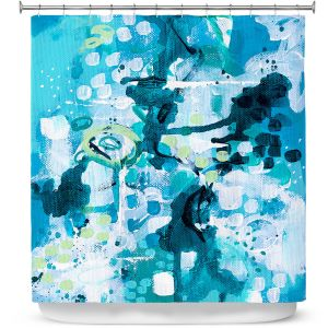 Premium Shower Curtains | Sue Allemand - Turbulent Seas 2 | Colorful abstract ocean