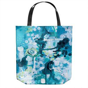 Unique Shoulder Bag Tote Bags   Sue Allemand - Turbulent Seas 2   Colorful abstract ocean