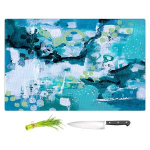 Artistic Kitchen Bar Cutting Boards | Sue Allemand - Turbulent Seas 3 | Colorful abstract ocean