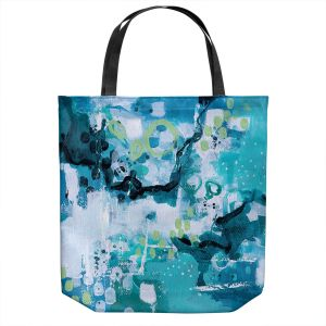 Unique Shoulder Bag Tote Bags | Sue Allemand - Turbulent Seas 3 | Colorful abstract ocean