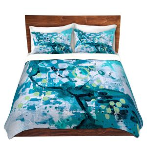 Artistic Duvet Covers and Shams Bedding | Sue Allemand - Turbulent Seas 4 | Colorful abstract ocean