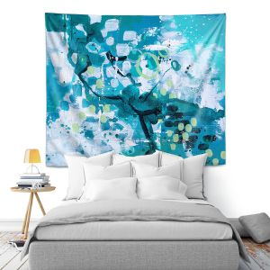 Artistic Wall Tapestry | Sue Allemand - Turbulent Seas 4 | Colorful abstract ocean